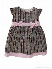 New baby girl dress brown baby dress with underwear