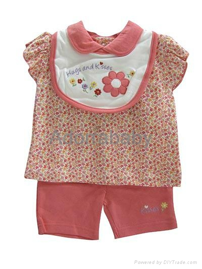 New baby girl clothing set 3 pieces 1
