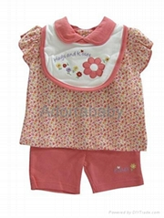 New baby girl clothing set 3 pieces