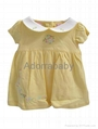 New baby girl dress yellow baby dress