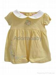 New baby girl dress yellow baby dress