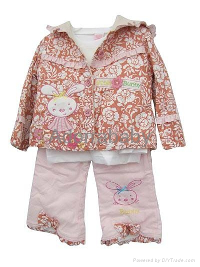 New baby girl clothing set 3 pieces baby clothes 1