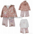 New baby girl clothing set 3 pieces baby clothes 2