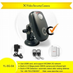 3G video alarm system Remote Alarm Camera With PIR Detector (YL-3G-04) Rz