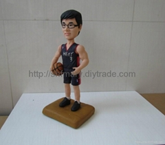 Full personalized figures, sports man DIY Bobble Head