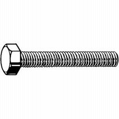 英制粗牙六角頭螺栓(全牙)