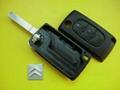 Citroen flip remote key blank 307 with