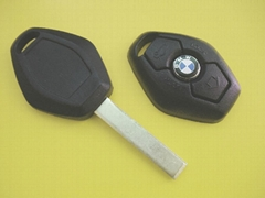 BM remote car key shell HU92 blade 2 button without writings on the back