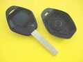 BM remote car key shell HU92 blade 2 button without writings on the back 2