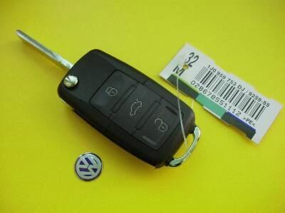 VW 3 buttons flip remote car key shell 1