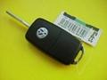 VW 3 buttons flip remote car key shell 2