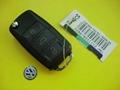VW 3 buttons flip remote car key shell 3