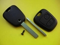 Citroen 2 buttons remote car key shell