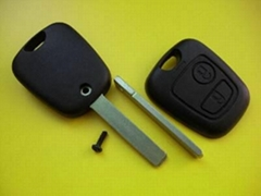 Citroen 2 buttons remote car key shell with 307 blade no logo