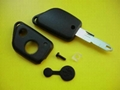 Peugeot 2 buttons car remote key shell with a hole on the blade tip 2