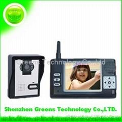 Wireless Video Door Phone Intercom System 3.5 LCD IR Peephole Camera