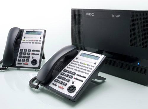 武汉进口集团电话NEC SL1000-8外线32分机 1