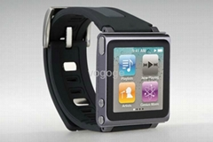 silicon double color iPod nano watch band