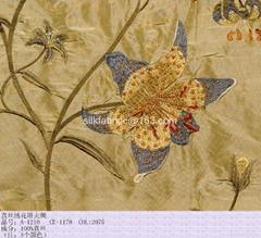 embroidered silk taffeta