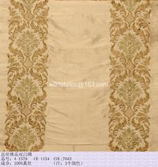 Embroidered douppioni silk