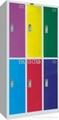 KD color steel school locker,double-tier