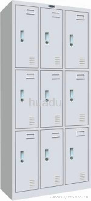 KD metal storage conbination locker, triple-tier, steel triple-wide box locker 1