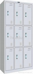 KD metal storage conbination locker, triple-tier, steel triple-wide box locker