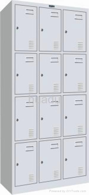 KD steel quadruple-tier triple-wide box locker assembled  1