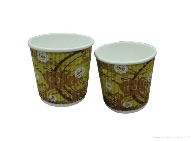 8oz Disposable ripple paper cup 1