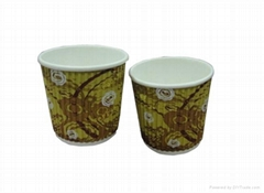 8oz Disposable ripple paper cup
