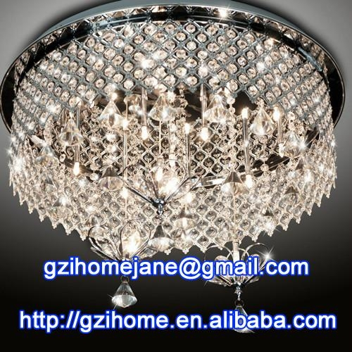 low voltage crystal ceiling lamp modern 1