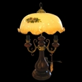 glass vintage table lamp,antique table