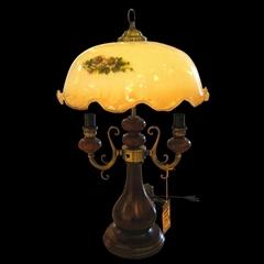 glass vintage table lamp,antique table light