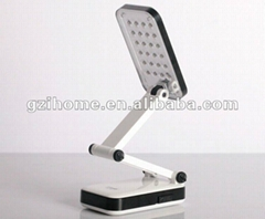 Led table lamp/Rechargeable foldable LED table Lamp with Calendar