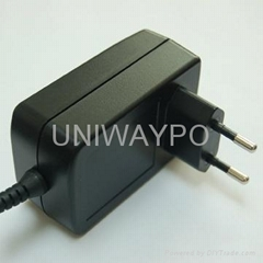 AC/DC Switching Power Adapter with 24W Output power and EU plug