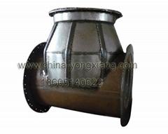 Rotational mold inspection wells