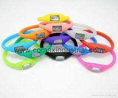 Fashion ion silicone sport watch