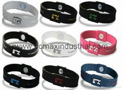 Popular silicone bracelet with ion