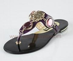 Lady Leather Flip Flops
