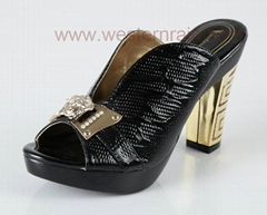 Women Leather Sandals and Slippers