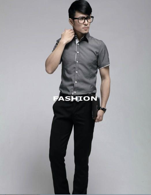 Luxury Business Mens Slimming Dress Shirt 4