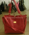 2012 latest design ostrich embossed PU lady's handbag
