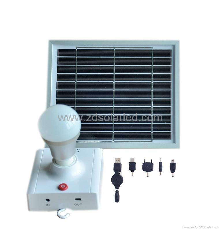 Portable Light Panels : Solar panel led bulb portable light