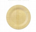 round disposable bamboo plate