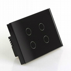 wall touch switch Diamond Black