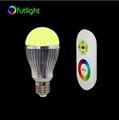 3W E27 LED RGB LED Bulb dimmable LED