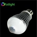 6W E26/E27 LED infrared sensor bulb