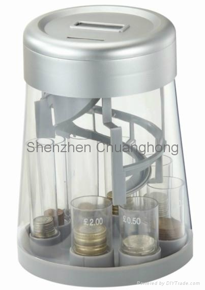 Coin jar coin sorter counting money bank coin bank ch 0458 china manufacturer products - Sorting coin bank ...