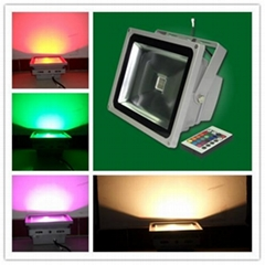 RGB LED flood light projector