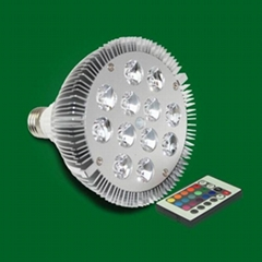 High power 12W RGB led color changing par38 light(with remote controller)